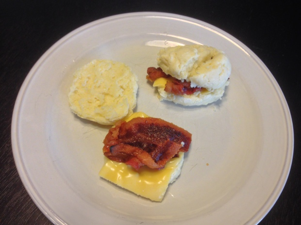 Bacon, egg, and cheese biscuits