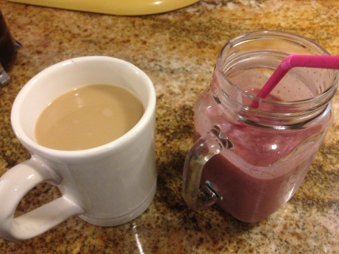 Coffee and smoothie