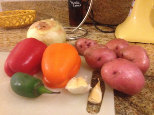 Fresh veggies for the soup