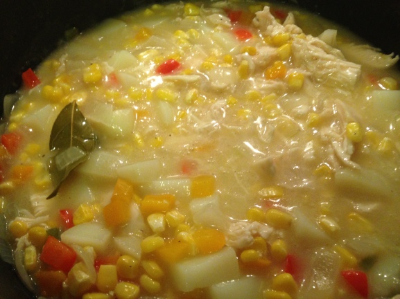 Soup simmering away